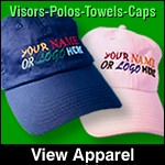 golf hats & towels